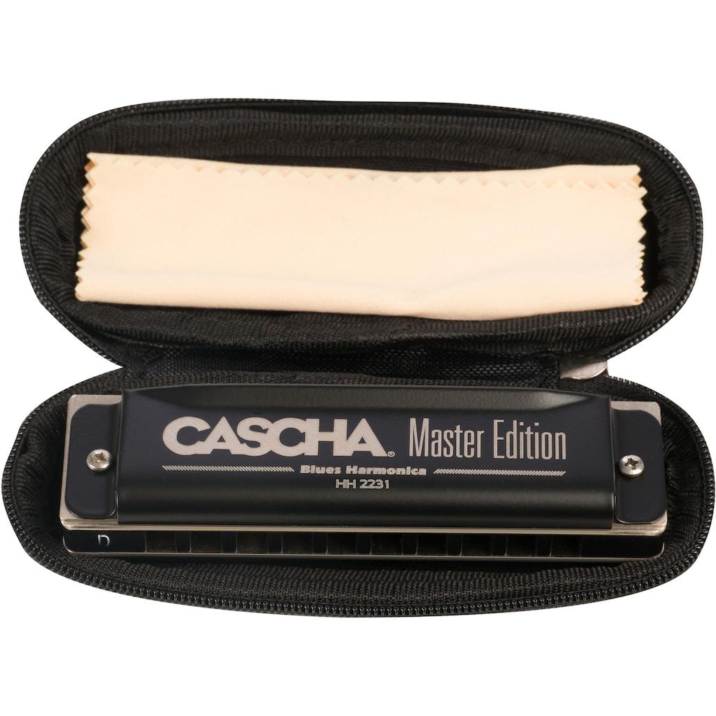 Cascha Mundharmonika »Master Edition Blues in D-Dur«, inkl. Soft Case und Pflegetuch