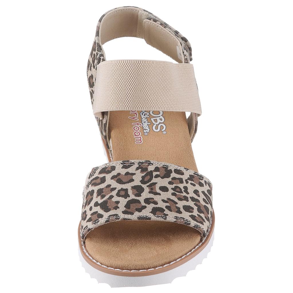 Skechers Sandale »Desert Kiss«, mit Animal-Print