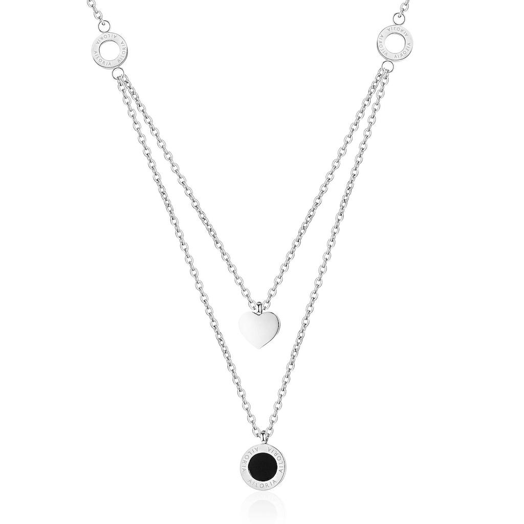AILORIA Kette mit Anhänger »ALINE Halskette Silber«, Hochglanz-Finish