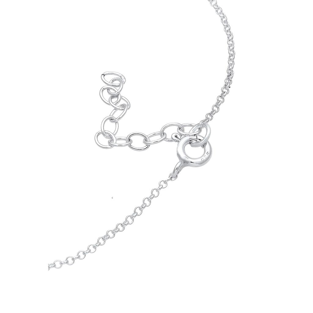 Elli Armband »Solitär Erbskette Kristalle 925 Silber«