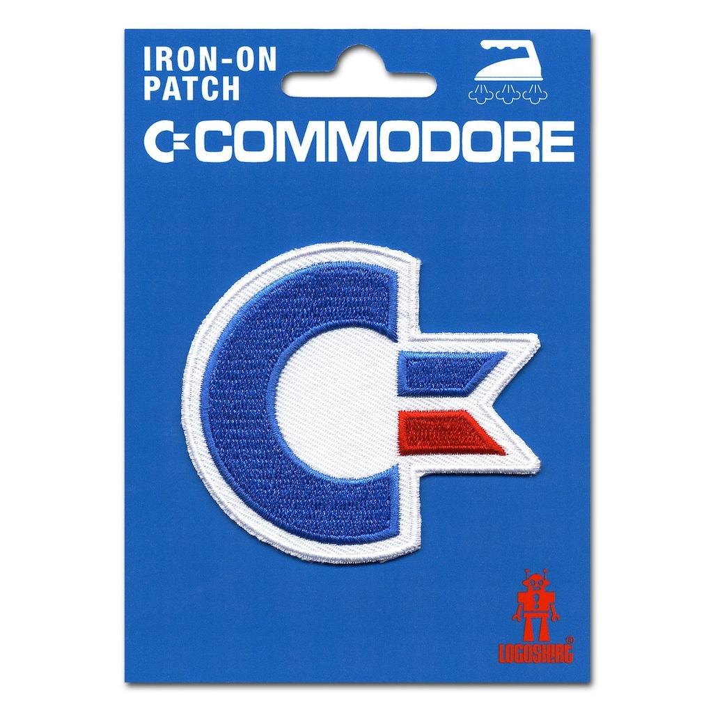 LOGOSHIRT Aufnäher mit Commodore-Logo