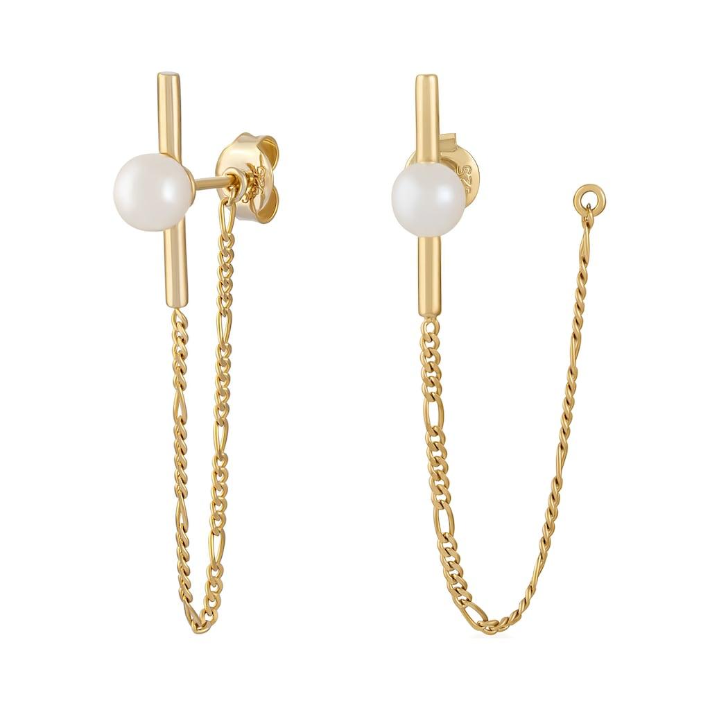 CAÏ Paar Ohrhänger »925/- Sterling Silber vergoldet Perlen«