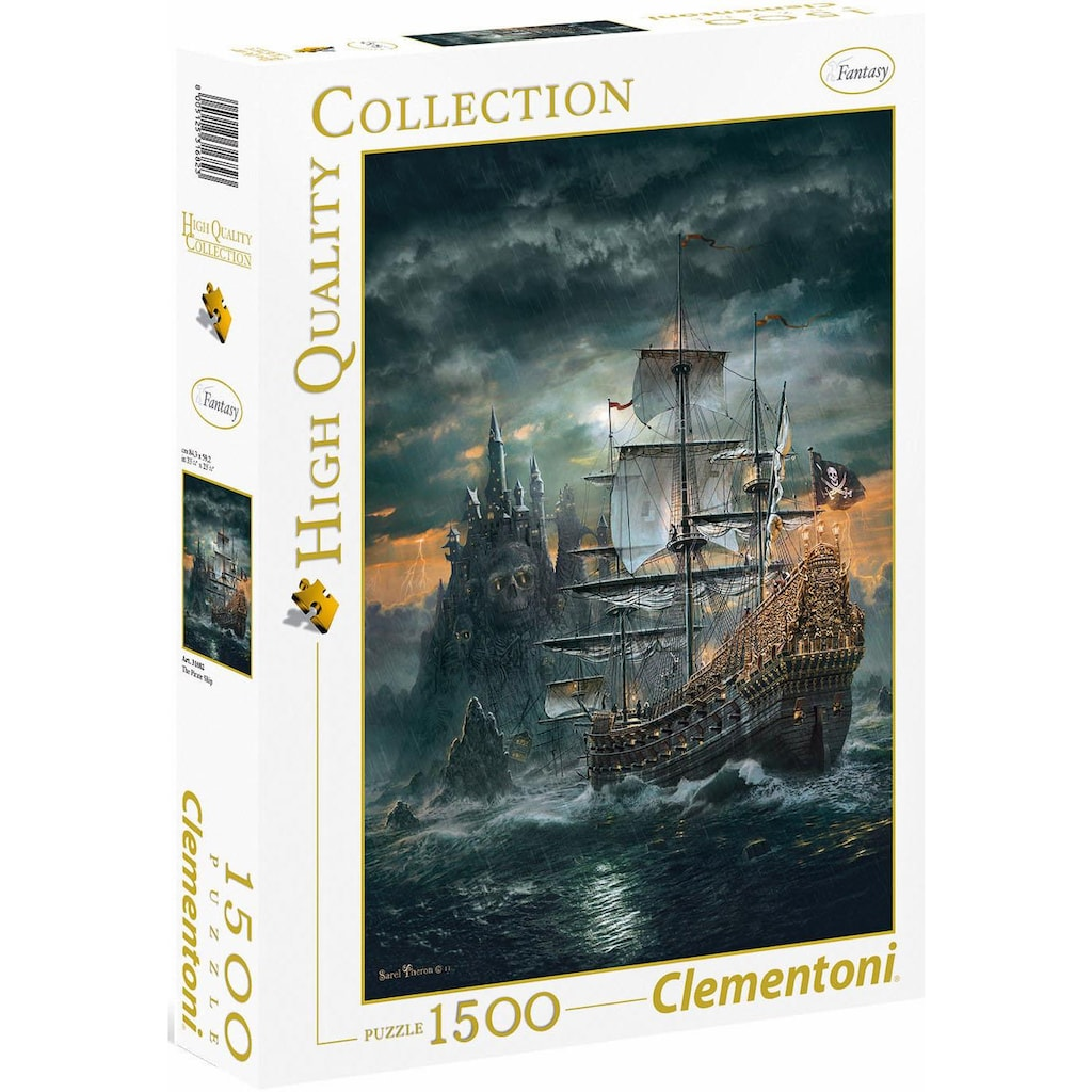 Clementoni® Puzzle »High Quality Collection - Das Piratenschiff«, Made in Europe