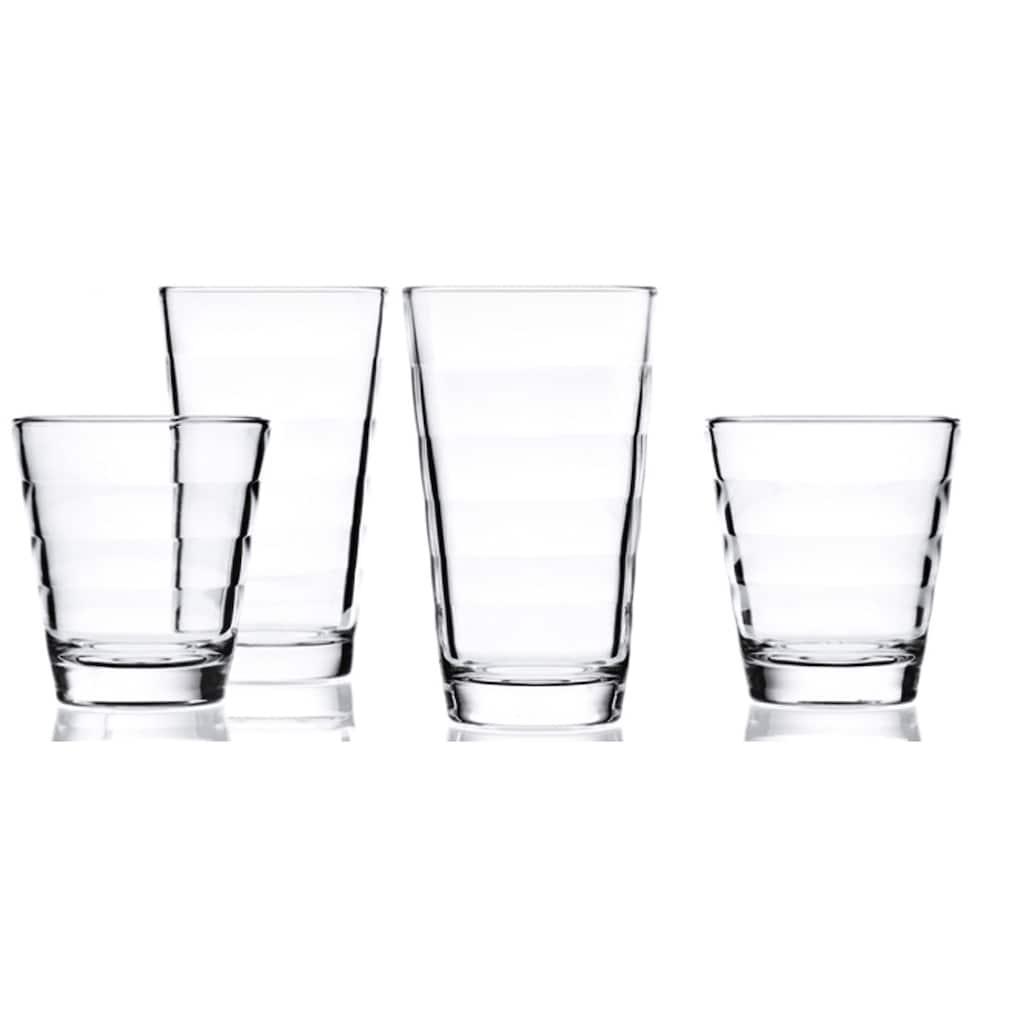 LEONARDO Gläser-Set »Onda«, (Set, 12 tlg.), je 6 kleine und große Becher