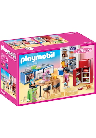 "Playmobil® Konstruktions - Spielset ""Familienküche (70206), Dollhouse"", Kunststoff, (129 - tlg.) kaufen"