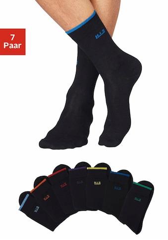 H.I.S Socken, (7 Paar), mit farbigen Bündchen kaufen