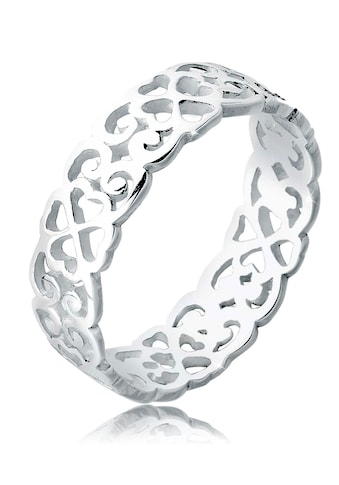 Elli Fingerring »Herz Kleeblatt Ornament Cut Out 925 Silber« kaufen