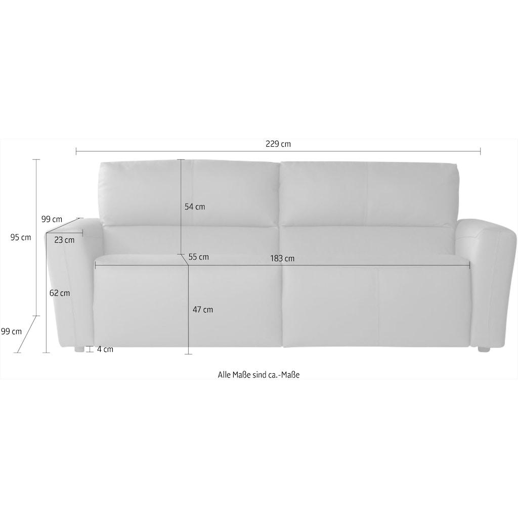 CALIA ITALIA Sofa »BULGARY«, Breite 229 cm,mit aufklappbare Bettfunktion