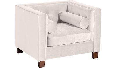 Max Winzer® Sessel »Jobbi«, mit Steppung im Rücken, inklusive 2 Kissenrollen, Breite... kaufen