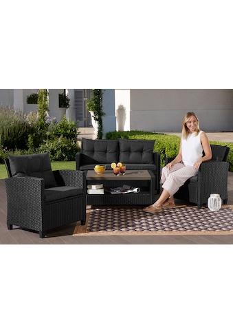 KONIFERA Gartenmöbelset »St. Tropez«, (11 tlg.), 2er Sofa, 2 Sessel, Tisch 9x55 cm, Polyrattan kaufen