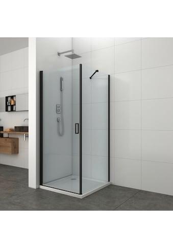 Sanotechnik Duschwand »Elite Black«, Seitenwand kaufen