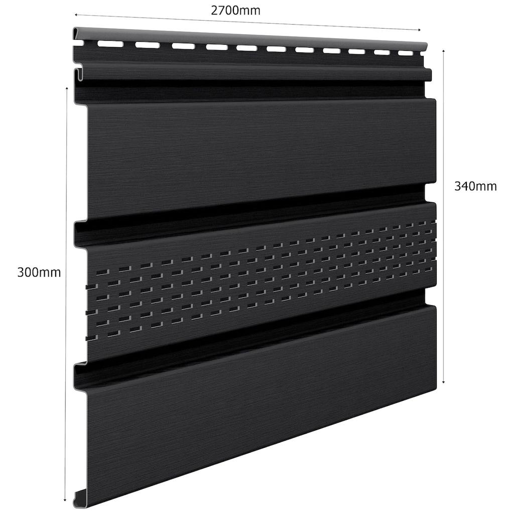 Baukulit VOX Verkleidungspaneel »SOFFIT graphit«, graphit
