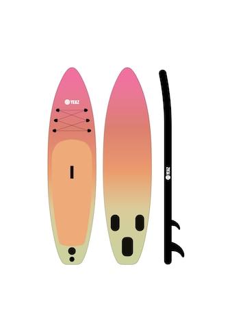 YEAZ Inflatable SUP-Board »PARADISE BEACH MSL«, (5 tlg.), inkl. Alu-Paddel, Handpumpe, Repair-Kit und Rucksack kaufen