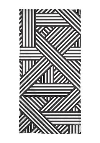 Juniqe Handtuch »B&W Lines«, (1 St.), Weiche Frottee-Veloursqualität kaufen