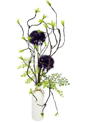 I.GE.A. Kunstblume »Arrangement Allium«, Vase aus Keramik kaufen