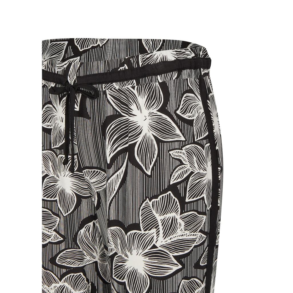 VIA APPIA DUE Sommerliche Hose mit Blumen-Print