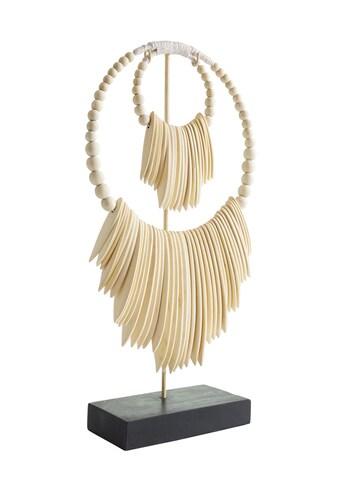 Deko - Objekt Indonesischer Halsschmuck aus massivem Holz kaufen