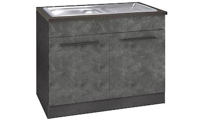 HELD MÖBEL Spülenschrank »Tulsa«, 100 cm breit, 2 Türen, schwarzer Metallgriff,... kaufen