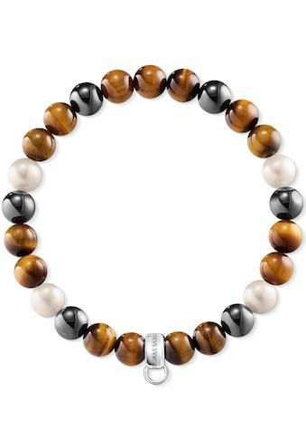 THOMAS SABO Charm - Armband »Braun, Grau, Weiss, X0218 - 948 - 2 - L« kaufen