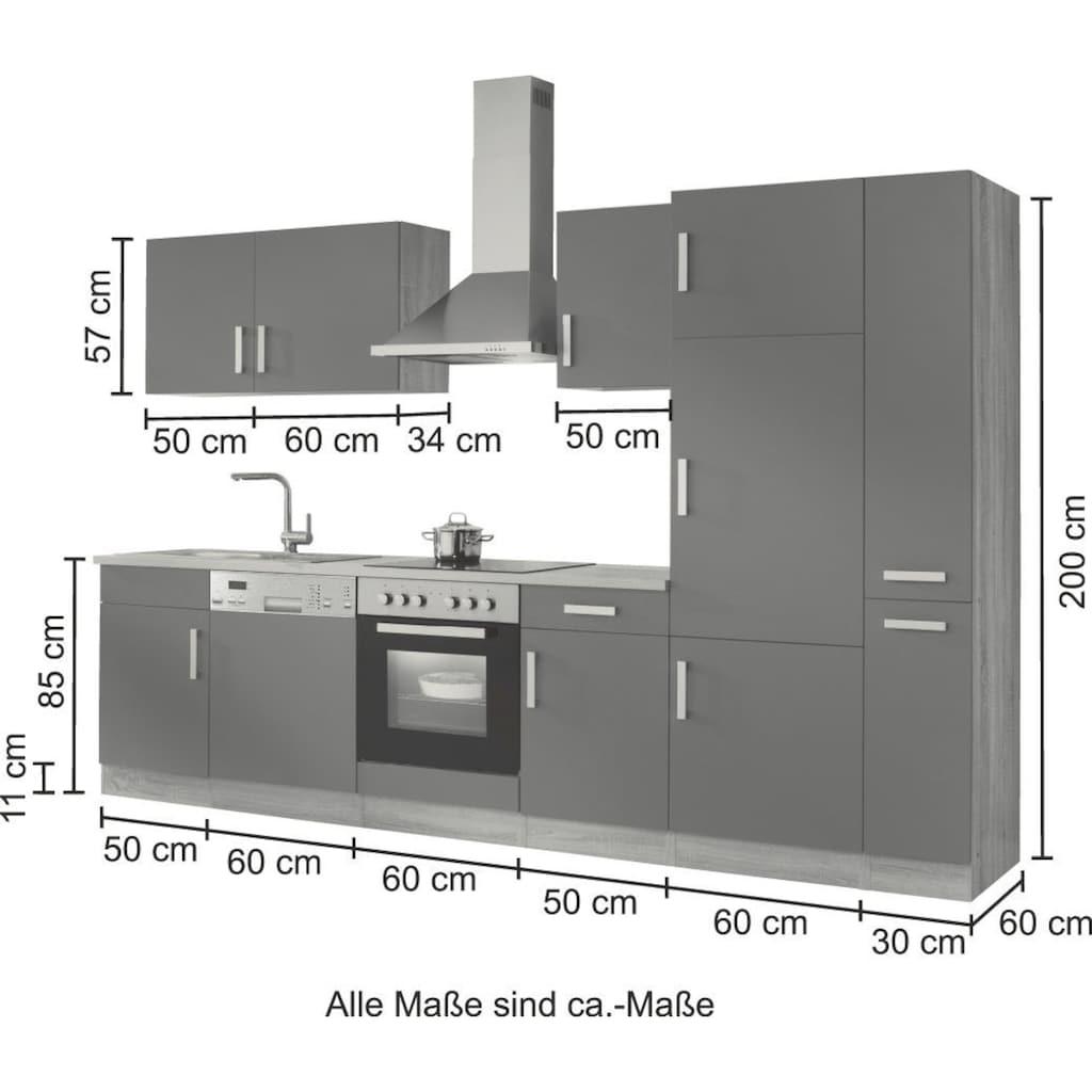 HELD MÖBEL Küchenzeile »Toronto«, mit E-Geräten, Breite 310 cm