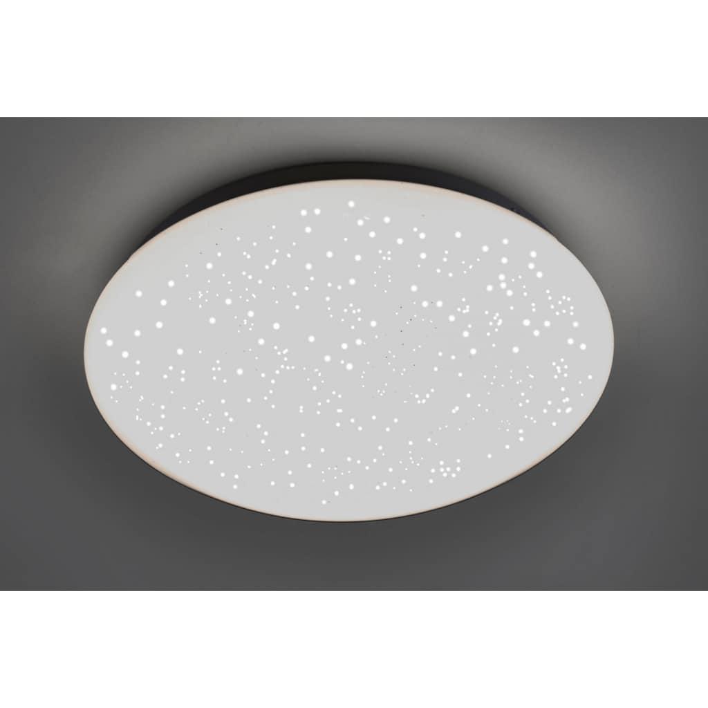 Leuchten Direkt Deckenleuchte »SKYLER«, LED-Board, Farbwechsler, LED, dimmbar, Ø 26 cm, Sternenhimmel-Optik, Farbwechsel RGB+W, mit Fernbedienung
