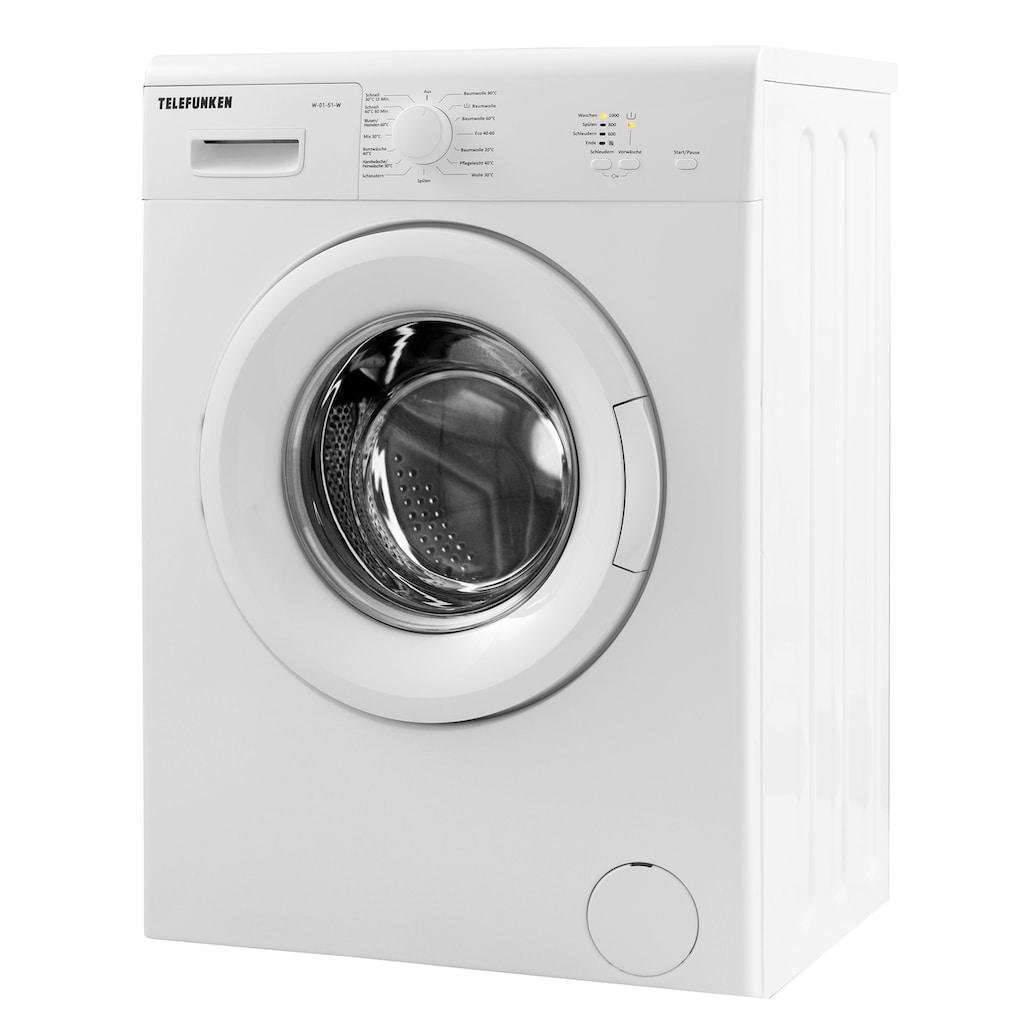 Telefunken Waschmaschine »W-01-51-W«, W-01-51-W, 5 kg, 1000 U/min, (5 kg / weiss)
