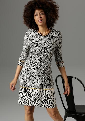 Aniston SELECTED Jerseykleid, mit Bordüren im Zebra-Druck - NEUE KOLLEKTION kaufen