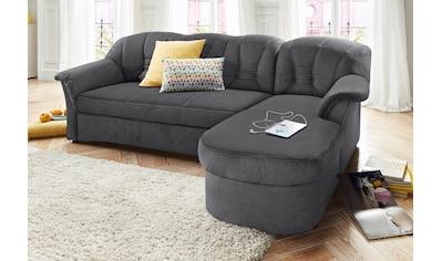 DOMO collection Ecksofa »Elva«, wahlweise mit Bettfunktion und Federkern kaufen
