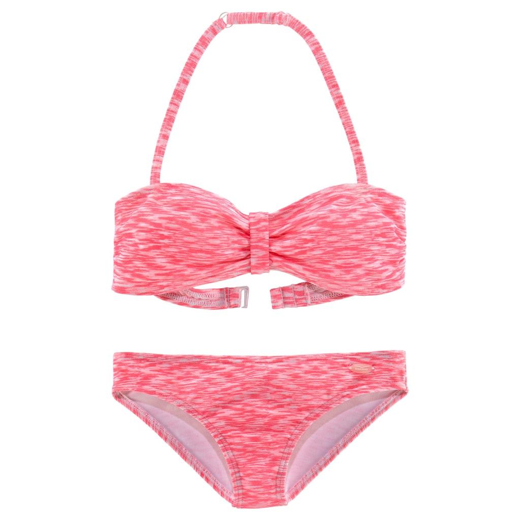 Venice Beach Bandeau-Bikini, in Melange-Optik