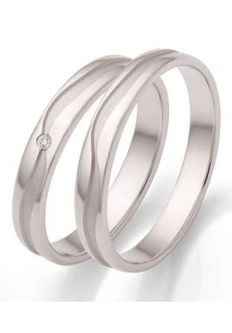 Firetti Trauring mit Gravur »3,5 mm, rhodiniert, wellenförmiger Diamantschnitt« kaufen