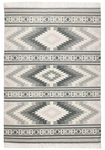TOM TAILOR Wollteppich »Kelim Colors I«, rechteckig, 5 mm Höhe, reine Wolle, robust... kaufen