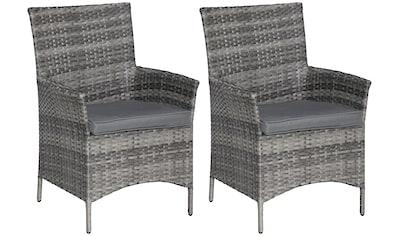 KONIFERA Gartenmöbelset »Barcelona«, 2 Stühle, Polyrattan, Stahl kaufen