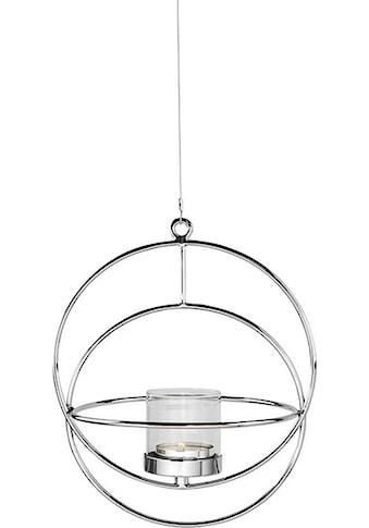 Fink Kerzenhalter »LUA, silberfarben«, dekorativer Kerzenleuchter zum Aufhängen, rund,... kaufen