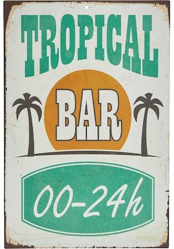Home affaire Metallbild »Tropical Bar«, Maße (B/H): ca. 30/45 cm kaufen