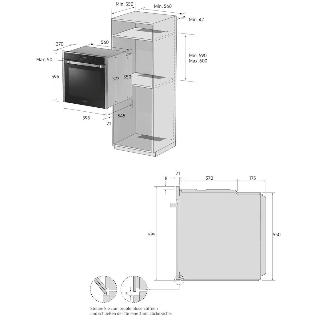 Samsung Einbaubackofen »NV70K1340BS/EG«, NV70K1340BS, mit Teleskopauszug nachrüstbar, katalytische Reinigung