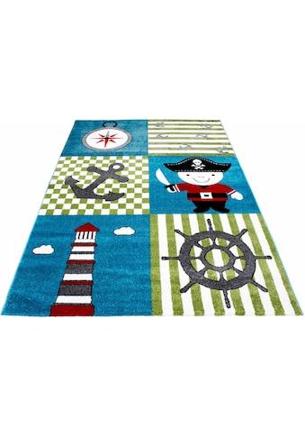 Ayyildiz Kinderteppich »Kids 450«, rechteckig, 12 mm Höhe, Piraten und Seeräuber Motiv kaufen
