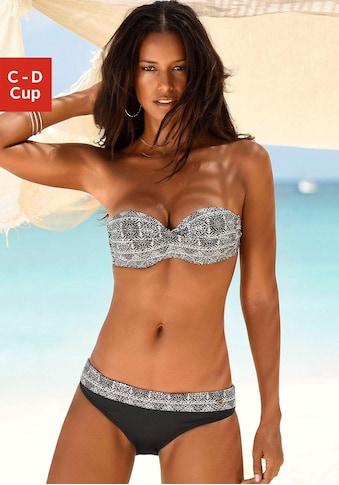 LASCANA Bügel-Bandeau-Bikini-Top »Giselle«, mit modernem Print kaufen