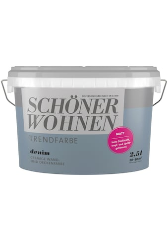 SCHÖNER WOHNEN-Kollektion Wand- und Deckenfarbe »Trendfarbe Denim«, matt 2,5 l kaufen