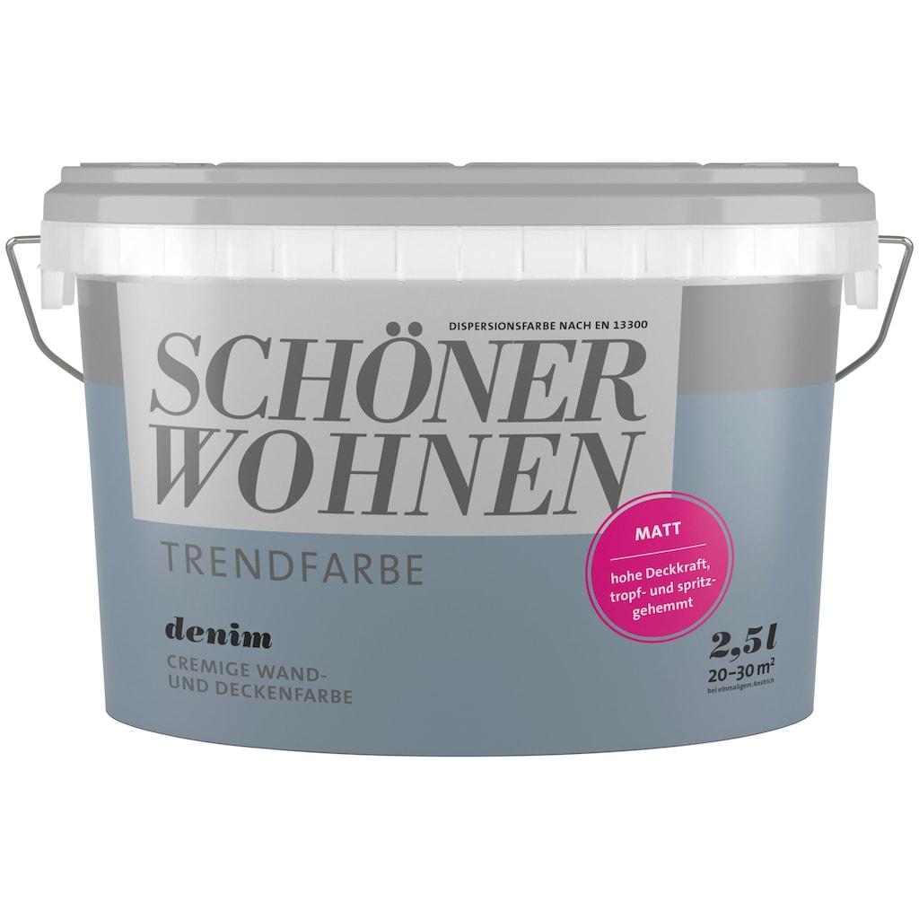 SCHÖNER WOHNEN-Kollektion Wand- und Deckenfarbe »Trendfarbe Denim«, matt 2,5 l