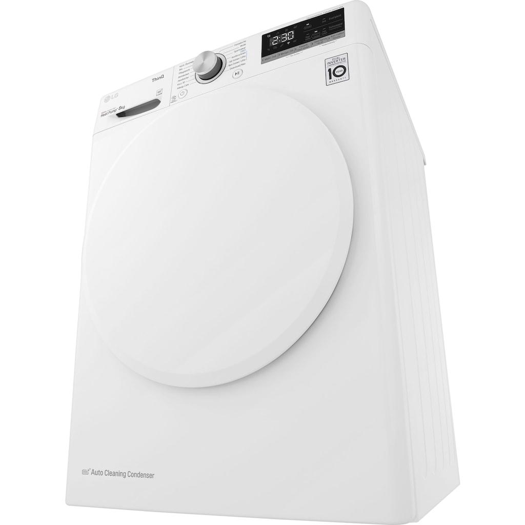 LG Wärmepumpentrockner »V3RT8«, 8 kg