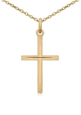 Firetti Kette mit Anhänger »Kreuz, diamantiert, Gelbgold« kaufen