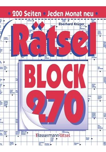 Buch »Rätselblock 270 (5 Exemplare à 2,99 EUR) / Eberhard Krüger« kaufen