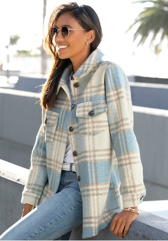LASCANA Hemdjacke, mit Karomuster kaufen