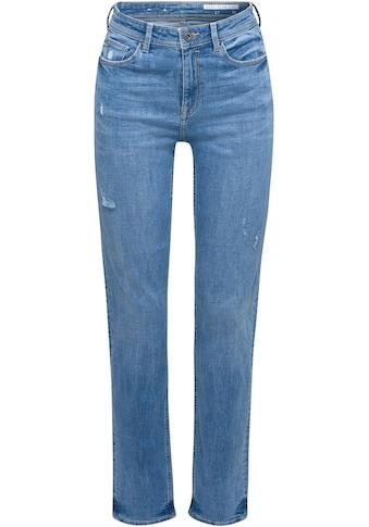edc by Esprit Stretch-Jeans, mit coolen Used-Effekten und im High-Waist Stil kaufen