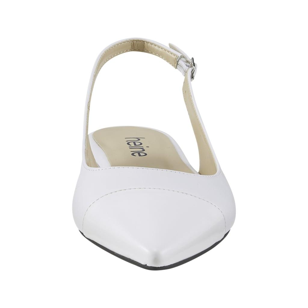 Slingballerina abgesetzter Kappe in Lackoptik