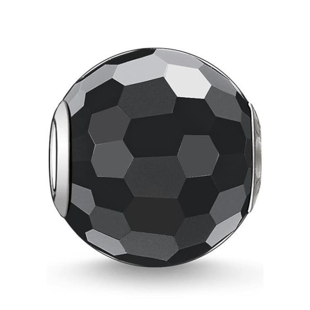 THOMAS SABO Bead »Karma Bead, Obsidian facettiert, K0003-023-11«, mit Obsidian