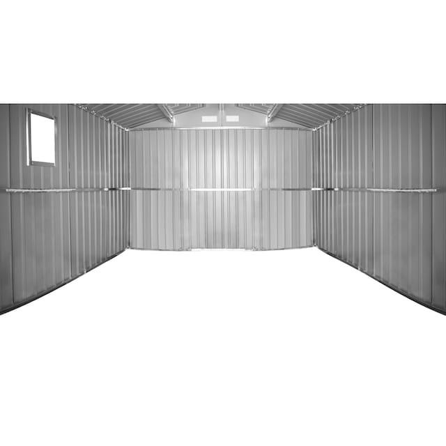 KONIFERA Set: Stahlgerätehaus »Archer Plus D«, BxTxH: 267x255x212 cm, mit Bodenrahmen
