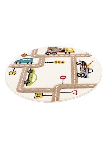 Lüttenhütt Kinderteppich »Strassen«, rund, 13 mm Höhe, handgearbeiteter... kaufen