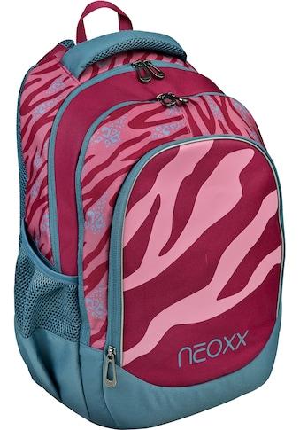 neoxx Schulrucksack »Fly, Berry Vibes«, Reflektionsnaht-Floureszierende Flächen, aus... kaufen