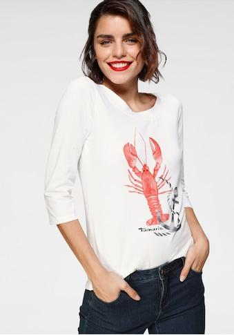 Tamaris 3/4-Arm-Shirt, mit maritimem Frontprint kaufen